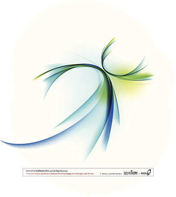 Curved Shape On White Background Art Print by Eastnine Inc.