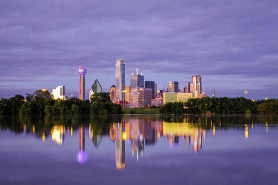 Photograph - Dallas Texas Cityscape Reflection by Robert Bellomy