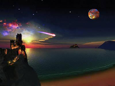 Digital Art - Dark Sky Planet by Don White Artdreamer