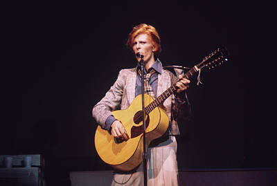 Photograph - David Bowie On Stage In New York by Steve Morley