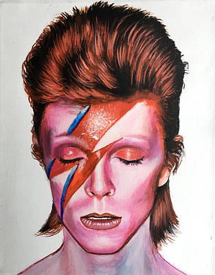 Painting - David Bowie  by Robert Korhonen