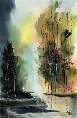Painting - Daybreak 5 by Anil Nene