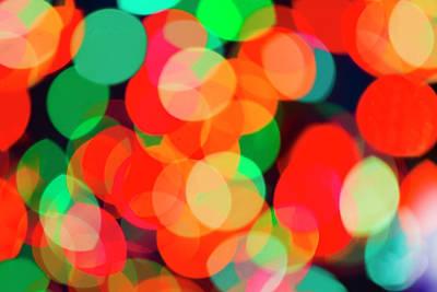Defocused Lights Art Print by Tetra Images