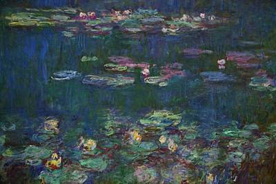 Painting - Detail Of Water-lilies By Claude Monet by Peter Barritt