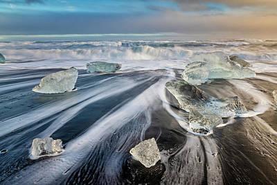 Pasta Al Dente - Diamond Beach Iceland III by Joan Carroll