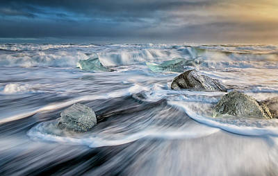 Anne Geddes Large Format Polaroids - Diamond Beach Iceland IV by Joan Carroll