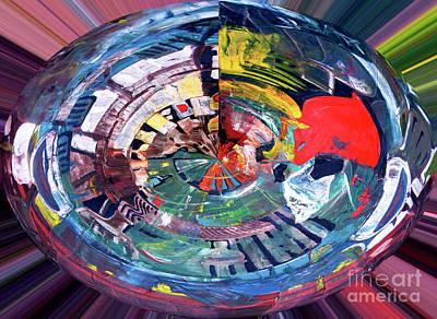 Digital Art - Digital Woman In Red by James Lavott