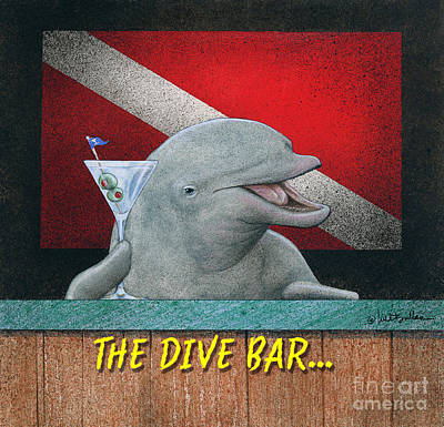 Painting - Dive Bar, The by Will Bullas