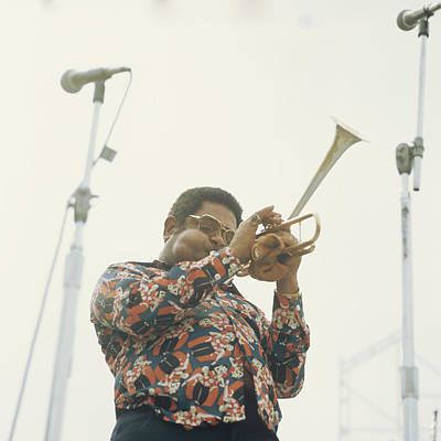 Dizzy Gillespie Performs At Newport Art Print by David Redfern