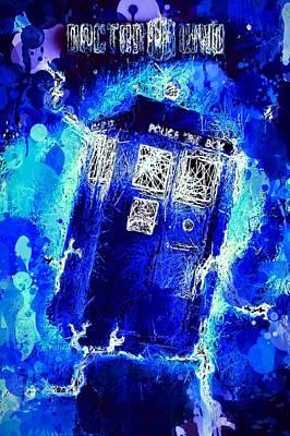 Mixed Media - Doctor Who Tardis by Al Matra