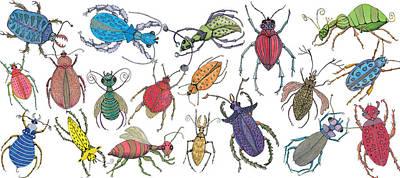 Painting - Doodle Bugs by Marie Stone Van Vuuren