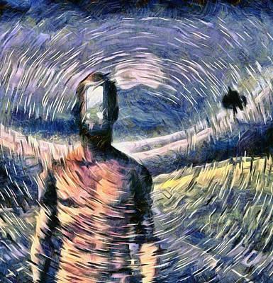 Surrealism Digital Art - Door to another world by Bruce Rolff