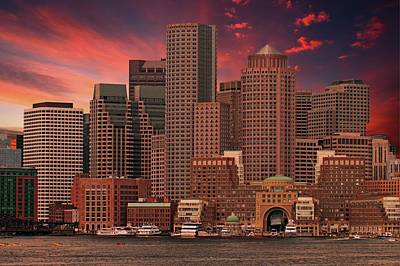 Photograph - Dramatic Boston Skyline by Paul Mangold