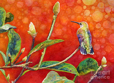 Abstract Animalia - Dreamy Hummer by Hailey E Herrera