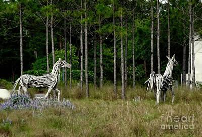 Florida Wall Art - Photograph - Driftwood Horses by Megan Cohen