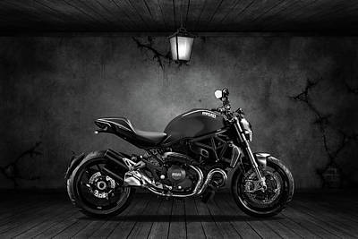Mixed Media - Ducati Monster 696 Old Room by Smart Aviation