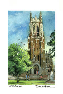 Painting - Duke Chapel by Dan Nelson