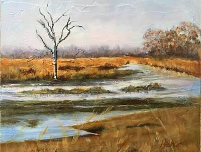 Painting - Early Spring On The Marsh by Marcia Hero