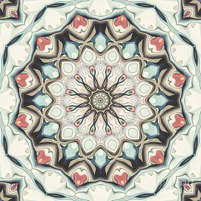 Digital Art - Earth Tones Mandala by Phil Perkins