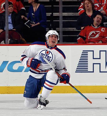 Photograph - Edmonton Oilers V New Jersey Devils by Bruce Bennett