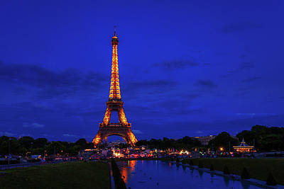 Royalty-Free and Rights-Managed Images - Eiffel Tower at Twilight by Andrew Soundarajan