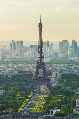 Photograph - Eiffel Tower In Paris At Sunset by Pawel Libera