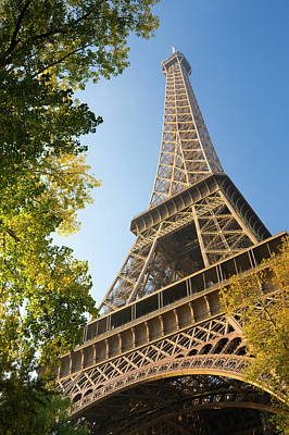 Photograph - Eiffel Tower Viewed Through Autumnal by Travelpix Ltd