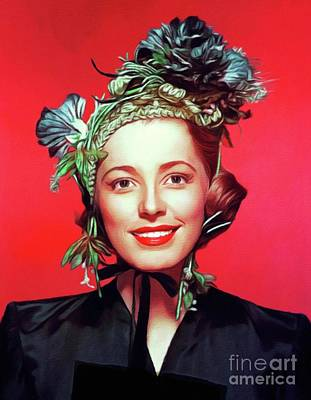 Royalty-Free and Rights-Managed Images - Eleanor Parker, Vintage Actress by Esoterica Art Agency