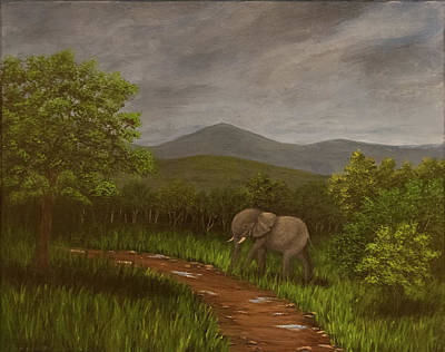 Painting - Elephant by Gloria Johnson
