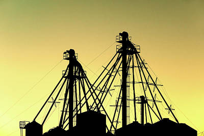Photograph - Grain Elevator Silhouette by Todd Klassy
