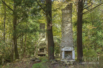 Abandoned Elkmont Wall Art - Photograph - Elkmont Chimney Remains 5  by Mike Eingle