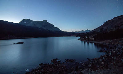 Photograph - Ellery Lake Off Tioga Pass In Yosemite National Park At Night by Alex Grichenko