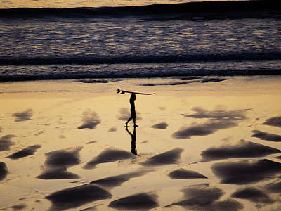 Photograph - End Of Surfing Session by Jorg Becker