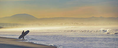 Photograph - Entering The Surf On A Foggy Morning by Gloria Moeller