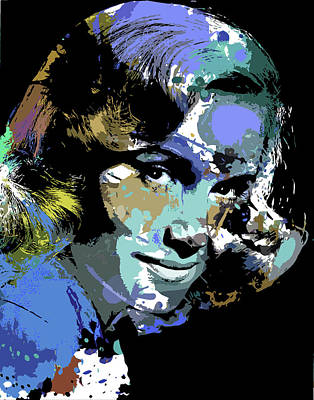 Wine Glass - Eva Marie Saint by Stars on Art