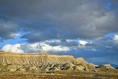 Photograph - Evening Light On The Book Cliffs by Ray Mathis