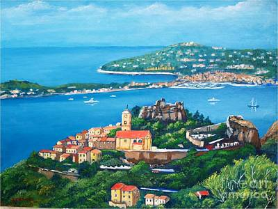 Painting - Eze Village, French Riviera by Jean Pierre Bergoeing