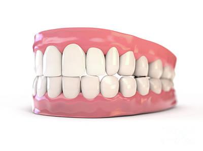 Digital Art Rights Managed Images - Fake Teeth Set  Royalty-Free Image by Allan Swart