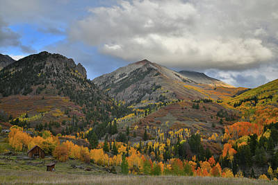 Photograph - Fall Color Scene Along Last Dollar Road by Ray Mathis