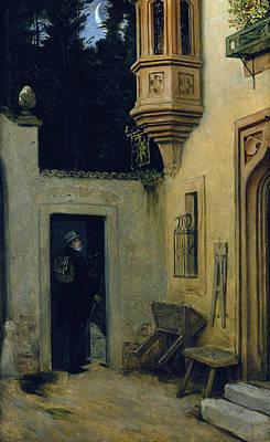 Painting - Farewell At Dawn by Moritz von Schwind