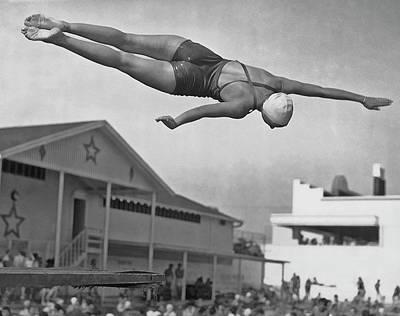 Photograph - Female Diver by Archive Photos