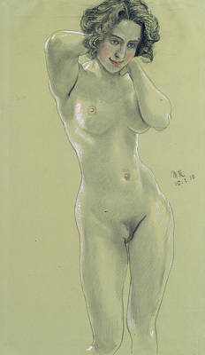 Drawing - Female Nude by Max Klinger