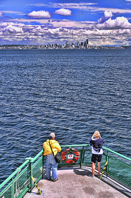 Photograph - Ferry To Seattle by Allen Beatty