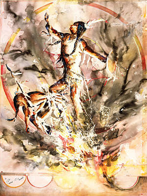 Painting - Fire Dance by Connie Williams
