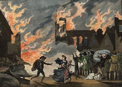 Fire Of London Art Print by Hulton Archive