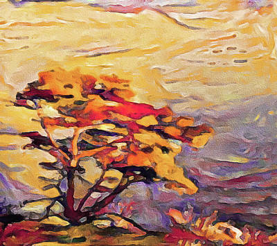 Mixed Media - Fires Of Autumn by Susan Maxwell Schmidt