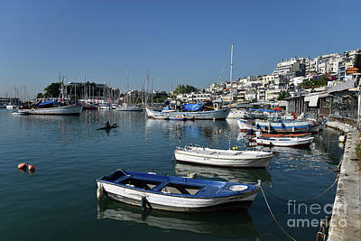 Photograph - Fishing Boats In Mikrolimano Port II by George Atsametakis