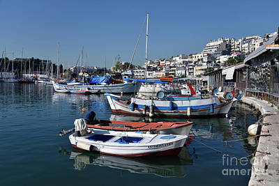 Photograph - Fishing Boats In Mikrolimano Port IIi by George Atsametakis