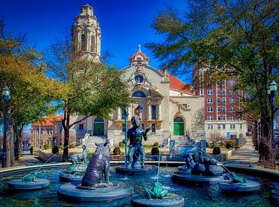 Storytellers Wall Art - Photograph - Five Points Fountain by Mountain Dreams