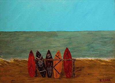 Painting - Five Reasons by Randy Sylvia